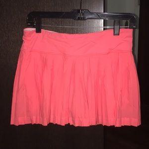 Lululemon pink ruffled skirt